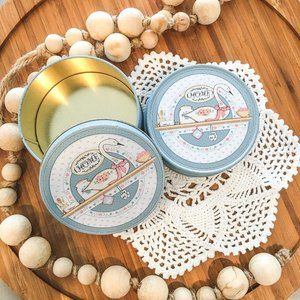 Set of 6 Country Geese Corkback Coasters with Tin